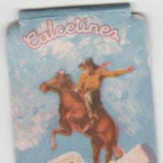 Etiquetas antiguas: ETIQUETA PUBLICIDAD COW BOY AÑOS 50-60. Lote 121804343