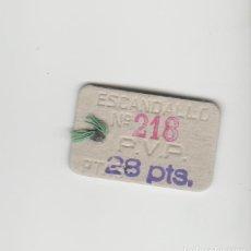Etiquetas antiguas: ETIQUETA MUY ANTIGUA PUBLICIDAD. Lote 121807091