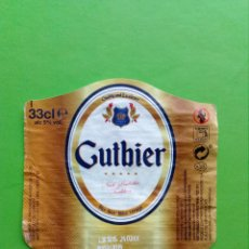 Etiquetas antiguas: ETIQUETA CERVEJA GUTBIER. Lote 122270363