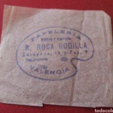 Etiquetas antiguas: VALENCIA. PAPELERÍA ROCA RODILLA.. Lote 125427279