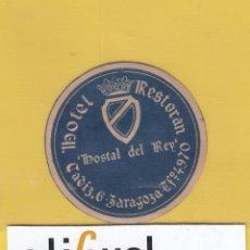 Etiquetas antiguas: ETIQUETA HOTEL ZARAGOZA HOSTAL ZARAGOZA DATADA AÑOS 1910 H- 6803 1676. Lote 125440883