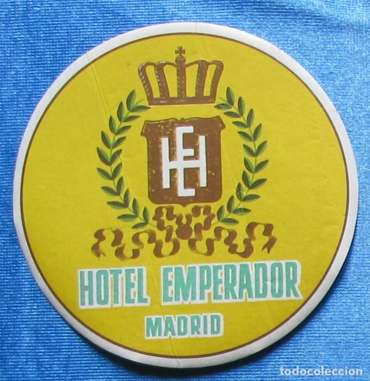 ETIQUETA DE HOTEL. HOTEL EMPERADOR, MADRID. (Coleccionismo - Etiquetas)