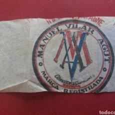 Etiquetas antiguas: ALMAZORA. MANUEL VILAR AGUT. PAÑERIA Y TELAS. ETIQUETA. Lote 127210148