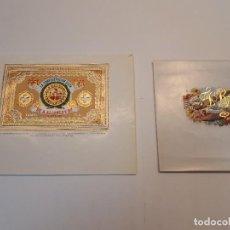 Etiquetas antiguas: 2 HABILITACIONES PUROS, LUIS ZAMORANO GONZÁLEZ, LA CONFEDERACIÓN SUIZA. Lote 128272867