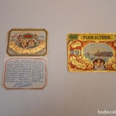 Etiquetas antiguas: 2 HABILITACIONES PUROS, . Lote 128273663