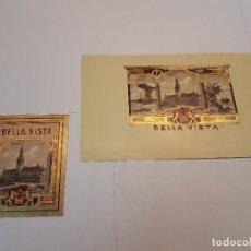 Etiquetas antiguas: 2 HABILITACIONES PUROS, BELLA VISTA. Lote 128276987