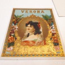 Etiquetas antiguas: DOS HABILITACIONES PUROS, VERONA. Lote 128277243