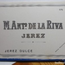 Etiquetas antiguas: ETIQUETA DE UNA BODEGA DE JEREZ FRA. ANTIGUA.. Lote 128495467