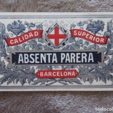 Etiquetas antiguas: ETIQUETA ABSENTA PARERA. Lote 179235172