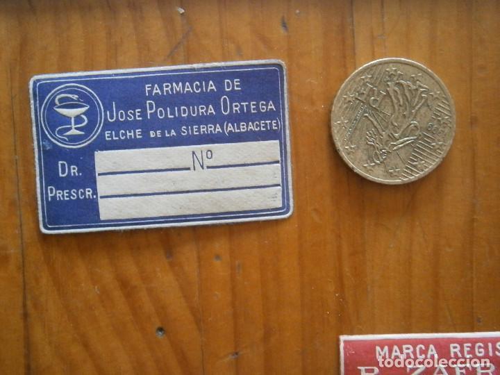 2ad83d99fff ¡¡PRECIOSA ETIQUETA PUBLICITARIA ¡¡AÑOS 40 50¡ALBACETE¡ FARMACIA  (Coleccionismo