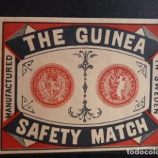Etiquetas antiguas: ETIQUETA SAFETY MATCH. Lote 129953783