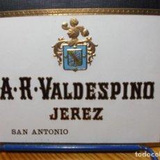Etiquetas antiguas: ETIQUETA DE UNA BODEGA DE JEREZ FRA... ANTIGUA.. Lote 130278438