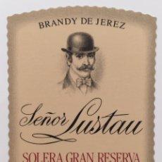 Etiquetas antigas: ETIQUETA VINO SEÑOR LUSTAU - SOLERA GRAN RESERVA - BODEGAS EMILIO LUSTAU - JEREZ SHERRY - ESPAÑA. Lote 130921847