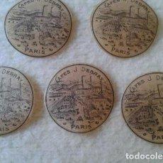 Etiquetas antiguas: LOTE DE 5 ANTIGUAS ETIQUETAS CAFÉS DEBRAY PARÍS FRANCIA FRANCE. ETIQUETA LABEL LABELS CAFÉ COFFEE. Lote 131584922