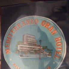 Etiquetas antiguas: LOTE DE 15 ETIQUETAS GRAN HOTEL MEDITERRANEO - CON PISCINA PALMA DE MALLORCA - SIN USAR. Lote 132499358