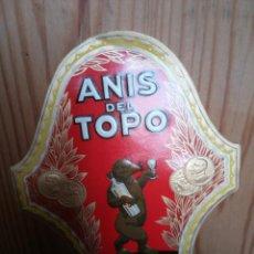 Etiquetas antiguas: ANIS DEL TOPO ETIQUETA . Lote 141612501