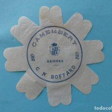 Etiquetas antiguas: ANTIGUA ETIQUETA DE QUESO - CAMEMBERT C. N. BOFFARD - REINOSA SANTANDER CANTABRIA - VER. Lote 133026354