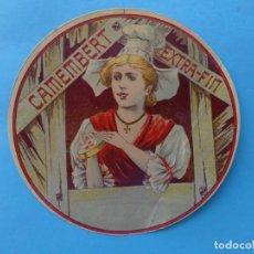 Etiquetas antiguas: ANTIGUA ETIQUETA DE QUESO - CAMEMBERT EXTRA FIN - REINOSA SANTANDER CANTABRIA - VER. Lote 133027194