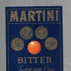 Etiquetas antiguas: ETIQUETA DE VINO. MARTINI. BITTER. TORINO. Lote 133102474