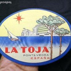 Etiquetas antiguas: ETIQUETA HOTEL ESPAÑA-HOTEL LA TOJA - GROVE- PONTEVEDRA-MALETA. Lote 133809582