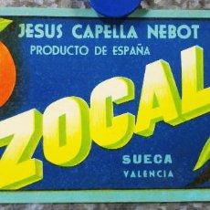 Etiquetas antiguas: ETIQUETA DE NARANJA JESUS CAPELLA NEBOT, SUECA, VALENCIA. Lote 135341810