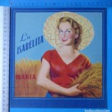 Etiquetas antiguas: ANTIGUA ETIQUETA GALLETAS LA ISABELITA MARIA - BURGOS. Lote 135477354