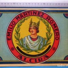 Etiquetas antiguas: ANTIGUA ETIQUETA DE NARANJAS - EMILIO MARTINEZ ROMERO, ALCIRA, VALENCIA . Lote 135683111