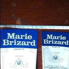 Etiquetas antiguas: LOTE ETIQUETAS MARIE BRIZARD ANTIGUAS . Lote 136109170