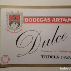 Etiquetas antiguas: BODEGAS ARTAJO TUDELA NAVARRA 25 UNIDADES. Lote 139015310