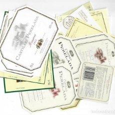 Etiquetas antiguas: LOTE DE 42 ETIQUETAS: CASTILLO PERELADA (EMPORDÀ, COSTA BRAVA). Lote 139520574