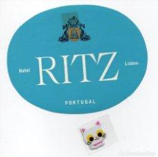 Etiquetas antiguas: ETIQUETA DE HOTEL RITZ DE LISBOA PORTUGAL . Lote 139556838