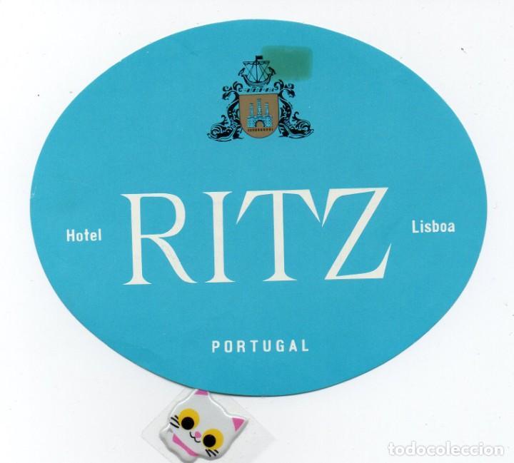 ETIQUETA DE HOTEL RITZ DE LISBOA PORTUGAL (Coleccionismo - Etiquetas)