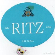 Etiquetas antiguas: ETIQUETA DE HOTEL RITZ DE LISBOA PORTUGAL . Lote 139556942