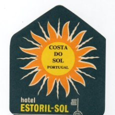 Etiquetas antiguas: ETIQUETA DEL HOTEL ESTORIL-SOL DE LA COSTA DO SOL PORTUGAL . Lote 139561150