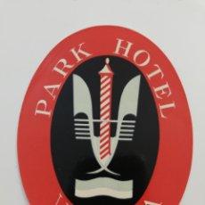 Etiquetas antiguas: ETIQUETA PARK HOTEL, VENECIA VENEZIA ITALIA, LUGGAGE LABEL.. Lote 140754674