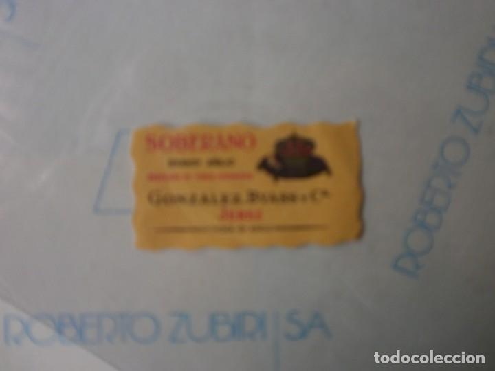 PEQUEÑA ETIQUETA BRANDY SOBERANO NUEVA (Coleccionismo - Etiquetas)