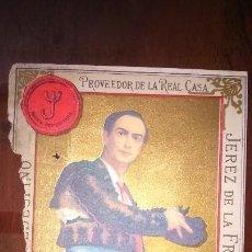 Etiquetas antiguas: RARA ETIQUETA VALDESPINO JEREZ. A RESTAURAR . Lote 142508026
