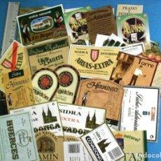 Etiquetas antiguas: COLECCION DE ETIQUETAS DE SIDRA .SIN USAR.LOTE DE MAS 150 UNIDADES DIFERENTES.VARIAS FOTOS. Lote 142708118