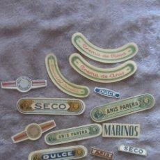 Etiquetas antiguas: LOTE 14 ETIQUETAS DESTILERIAS PARERA. Lote 142923650