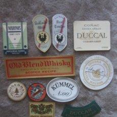 Etiquetas antiguas: LOTE 12 ETIQUETAS DESTILERIAS PARERA. Lote 142925034