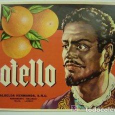 Etiquetas antiguas: 25 ANTIGUAS ETIQUETAS DE NARANJAS - OTELLO - CARCAGENTE, VALENCIA. Lote 157218298