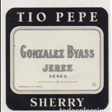 Etiquetas antiguas: ETIQUETA DE VINO TIO PEPE - GONZALEZ BYASS, JEREZ. SHERRY - ET-1673,5. Lote 143741994