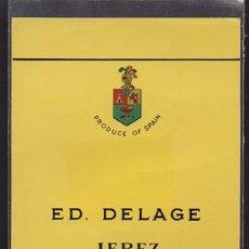 Etiquetas antiguas: ETIQUETA DE VINO ED. DELAGE - JEREZ (SPAIN). - ET-1679,5. Lote 143745998