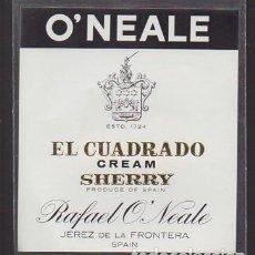 Etiquetas antiguas: ETIQUETA DE VINO EL CUADRADO, CREAM SHERRY - RAFAEL O'NEALE, JEREZ DE LA FRONTERA. - ET-1680,13. Lote 143746522