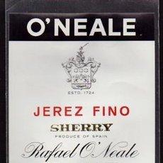 Etiquetas antiguas: ETIQUETA DE VINO JEREZ FINO - RAFAEL O'NEAL - JEREZ DE LA FRONTERA - SHERRY - ET-1692,21. Lote 143752422