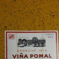 Etiquetas antiguas: ETIQUETAS BOTELLAS VINO. Lote 143011758