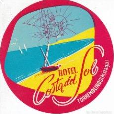 Etiquetas antiguas: ANTIGUA ETIQUETA DEL HOTEL COSTA DEL SOL DE TORREMOLINOS - MALAGA. Lote 147493354