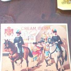 Etiquetas antiguas: ETIQUETA VINO ROMATE JEREZ TOROS CREAM IBERIA . Lote 149448114