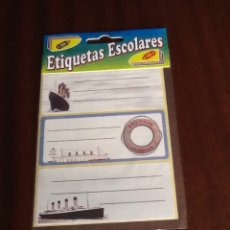 Etiquetas antiguas: ETIQUETAS ESCOLARES ADHESIVAS BARCOS 4 BLISTERS SIN ABRIR. Lote 149463325