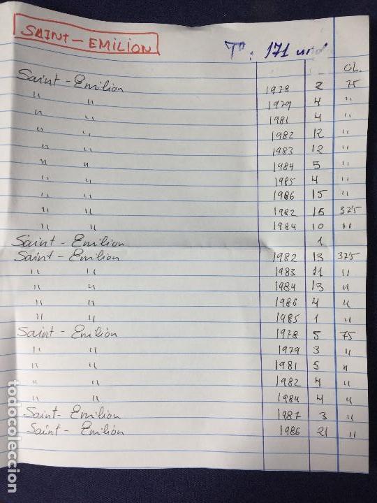 Etiquetas antiguas: 171 ETIQUETAS VINO SAINT EMILION BORDEAUX BURDEOS FRANCIA AÑOS 70 80 - Foto 2 - 150649822